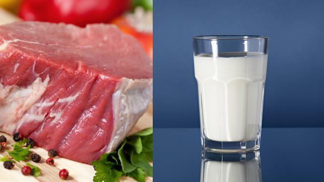 Maso a mléko