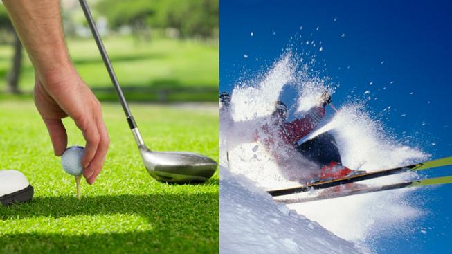 Golf versus lyžování