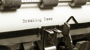 Breaking news (ilustrační fotografie)
