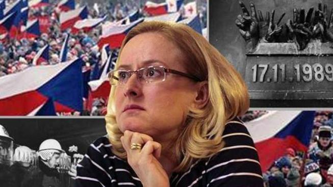 Studetská vůdkyně Monika Pajerová