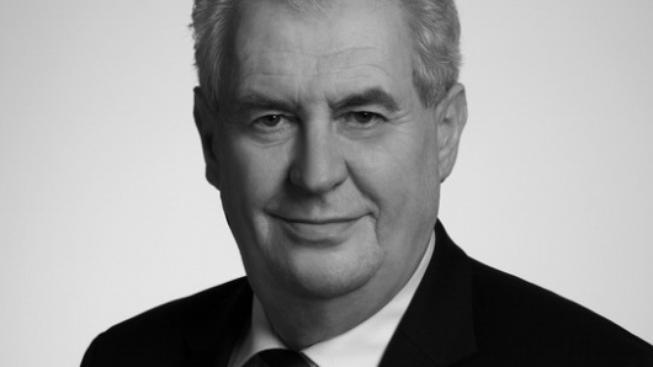 Miloš Zeman na budoucí poštovní známce.