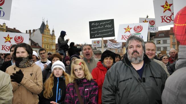 Demonstrace proti komunismu (ilustrační foto).