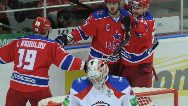 Radost hráčů CSKA Moskva
