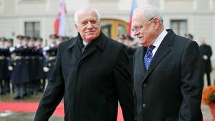 Václav Klaus s Ivanem Gašparovičem