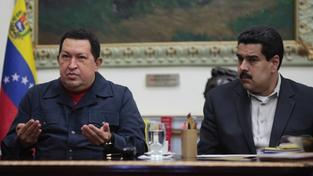 Hugo Chávez, Nicolas Maduro (vpravo)