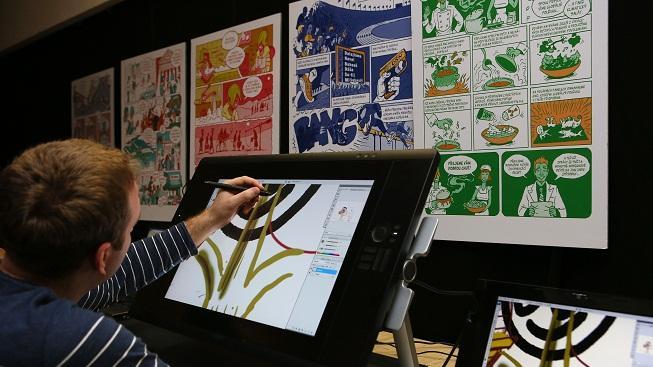 Vytváření komiksů (ilustrační foto)