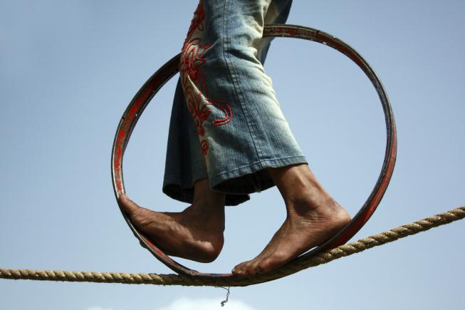Tragédie v cirkuse: Akrobat spadl z 27 metrů