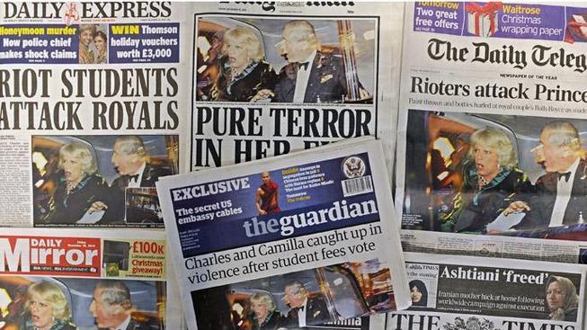 Britský tisk. (ilustrační foto)