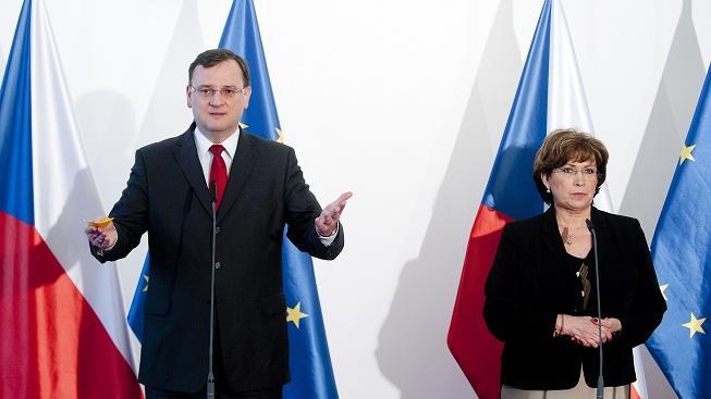 Petr Nečas a Ludmila Müllerová