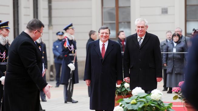 Jose Barroso a Miloš Zeman