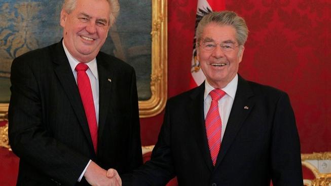 Miloš Zeman s Heinzem Fischerem