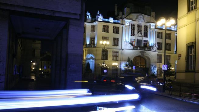 Praha. Noční osvětlení