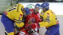 Čeští hokejisté se střelecky neprosadili a podlehli Švédsku 0:1