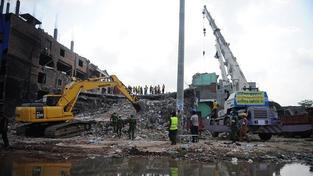 Zřícení budovy, ilustrační foto