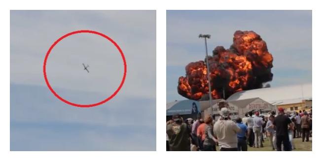 Letadlo se zřítilo před zraky diváků!
