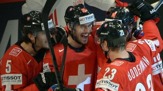 Radost hráčů Švýcarska