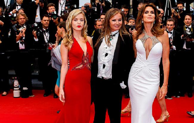 Georgia May Jagger (zleva), Eva Cavalli a Cindy Crawford