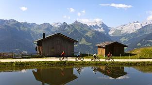 Na horských kolech po Montafonu