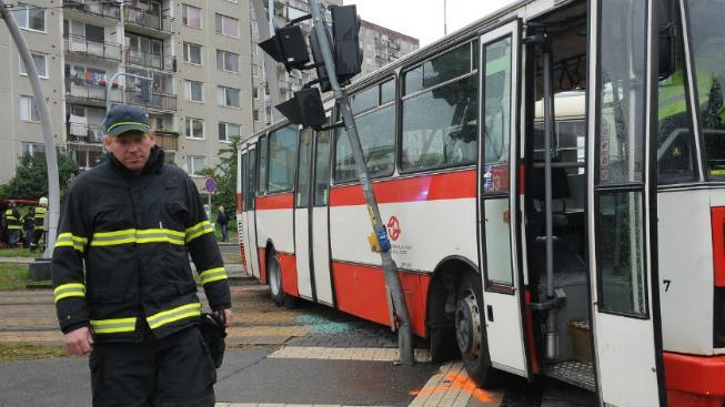 Nehoda autobusu, ilustrační foto