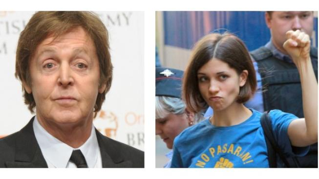 Paul McCartney, členka Pussy Riot