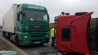 Nehoda kamionů, ilustrační foto