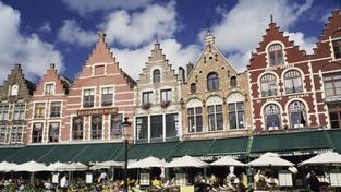 Velké náměstí v historickém centru Brugg