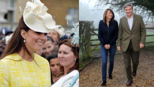 Kate Middleton a její rodiče
