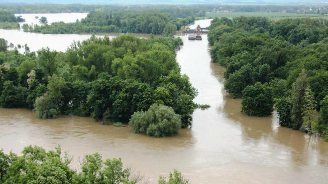Povodně u Mělníka