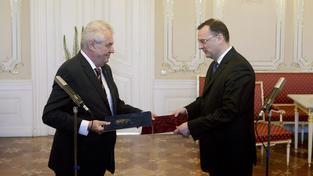 Miloš Zeman s Petrem Nečasem
