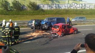 Hromadní nehoda (ilustrační foto)