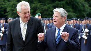 Prezident Zeman a německý prezident Gauck