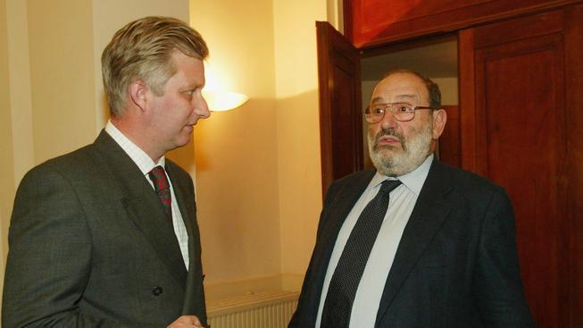 Umberto Eco (vpravo)