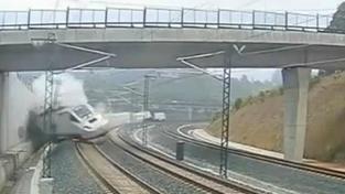 Vykolejení vlaku ve Španělsku