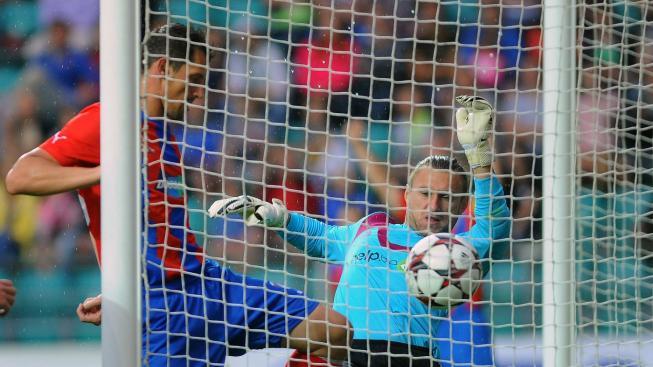 Marian Čišovský dává druhý gól
