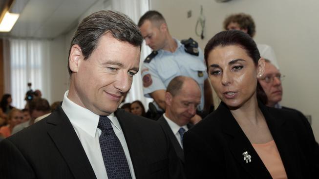 David Rath a Kateřina Pancová u soudu