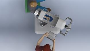 Robot na odběr krve Veebot