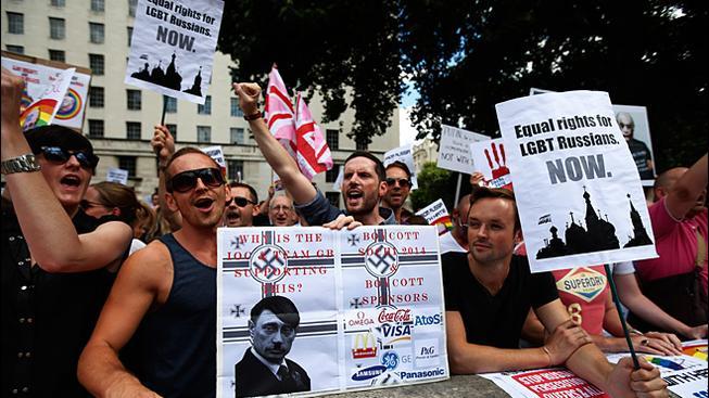 Protesty proti olympiádě v Soči