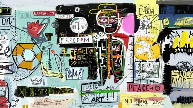 """""""Abstraktní"""" graffiti"""