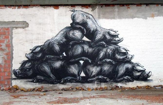 Graffiti, při kterých se vám zatají dech nebo vykouzlí úsměv na rtech