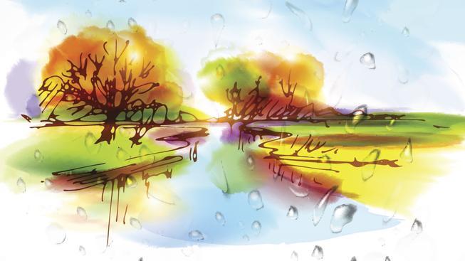 Raný podzimní déšť