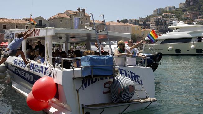 Loď homosexuálů v Černé hoře
