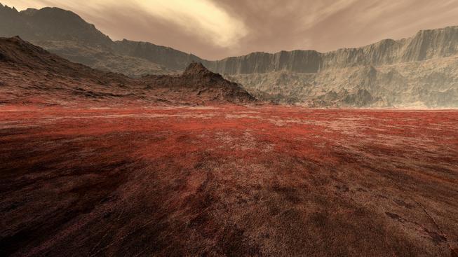 Povrch Marsu (ilustrační foto)