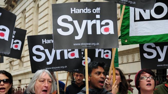 Protesty proti útoku na Sýrii