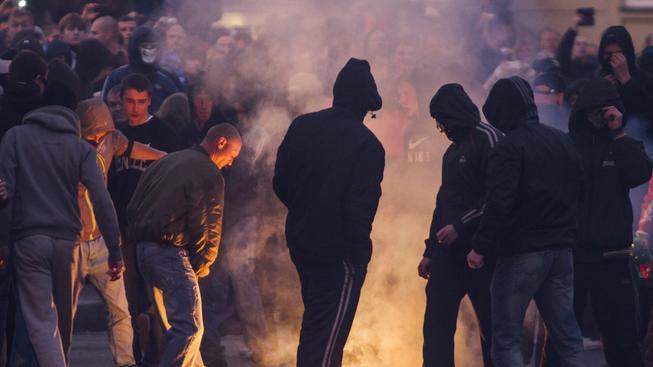 Včerejší střet extremistů s policií v Ostravě