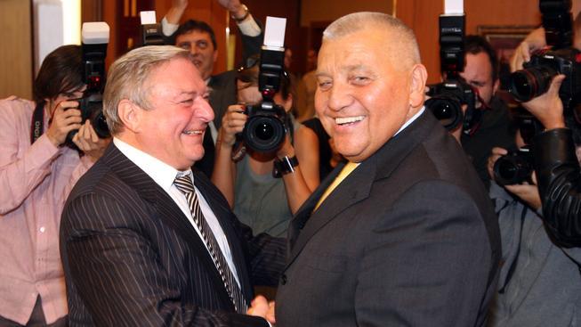 Miroslav Šlouf a Miroslav Štěpán