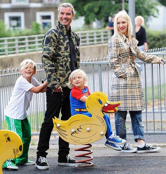 Gwen Stefani s manželem Gavinem Rossdalem