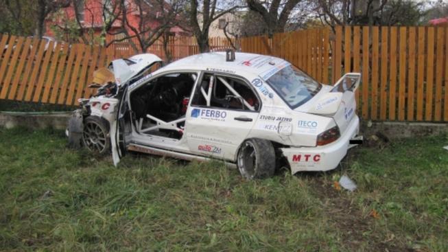 Nehoda na rallye (ilustrační foto)