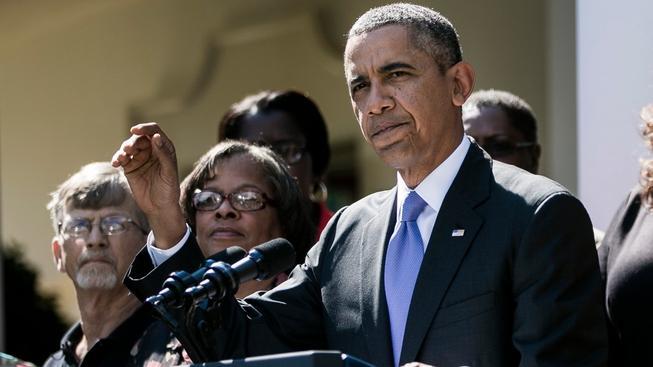 Obama při projevu