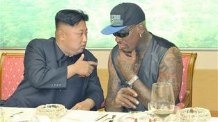 Kim Čong-Un a Dennis Rodman