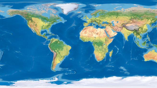 Mapa světa (ilustrační fotografie)